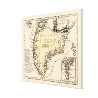 Vintage Map of Greenland (1791) Canvas Print