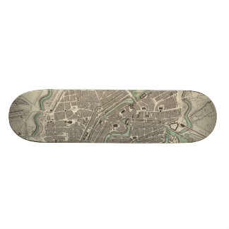 Vintage Map of Hamburg Germany 1841 Skate Boards