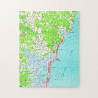 Vintage Map of Hampton Beach New Hampshire (1957) Jigsaw Puzzle
