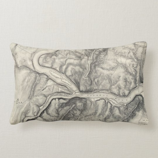 Vintage Map of Harpers Ferry (1863) Lumbar Pillow