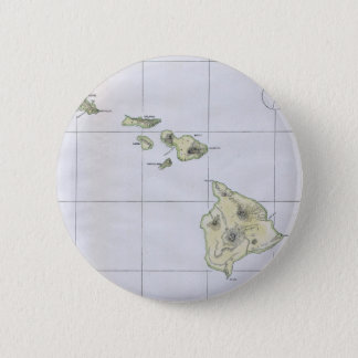 Vintage Map of Hawaii (1883) 2 Inch Round Button