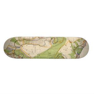 Vintage Map of Hawaii Island (1906) Skate Deck
