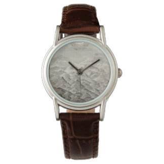 Vintage Map of Hills and Mountains in Great Britai Watch