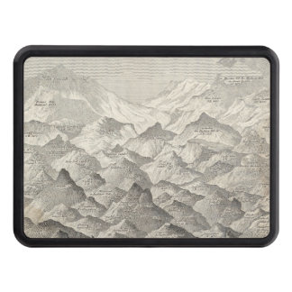 Vintage Map of Hills and Mountains in UK 1837 Trailer Hitch Cover