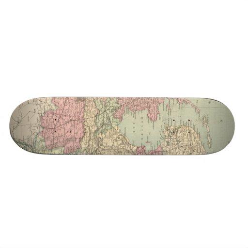 Vintage Map of Holland (1873) Skateboards
