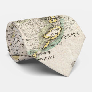 Vintage Map of Holland and Belgium (1775) Tie
