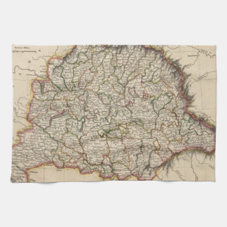 Vintage Map of Hungary (1817) Kitchen Towel