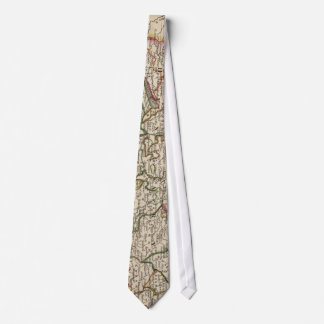 Vintage Map of Hungary (1817) Tie