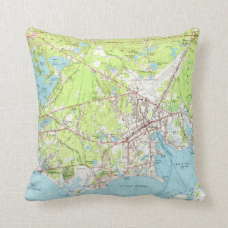 Vintage Map of Hyannis Massachusetts (1961) Throw Pillow