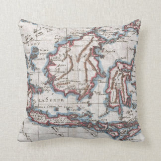 Vintage Map of Indonesia (1780) Throw Pillow