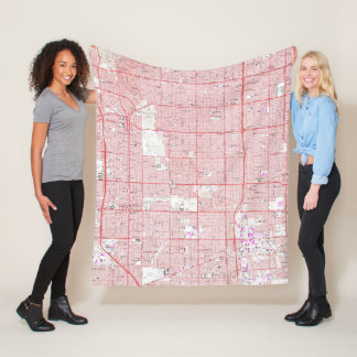 Vintage Map of Inglewood California (1964) Fleece Blanket