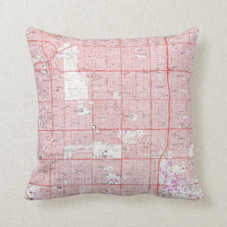 Vintage Map of Inglewood California (1964) Throw Pillow