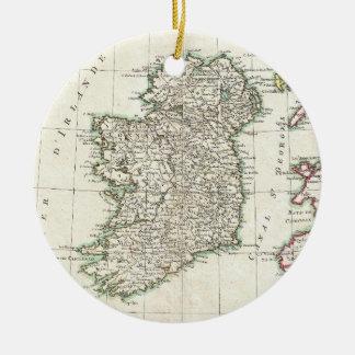 Vintage Map of Ireland (1771) Ceramic Ornament