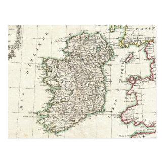Vintage Map of Ireland (1771) Postcard