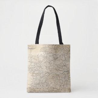 Vintage Map of Ireland - Dublin Irish Travel Gift Tote Bag