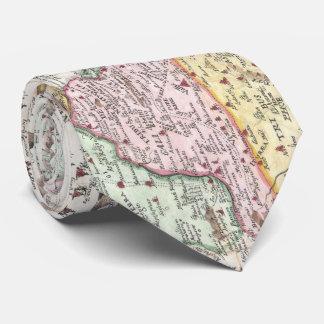 Vintage Map of Israel (1632) Tie
