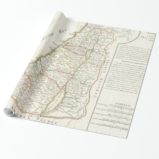 Vintage Map of Israel (1770) Wrapping Paper