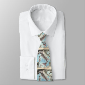 Vintage Map of Italy (1891) Tie