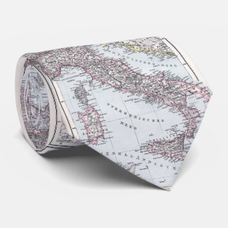 Vintage Map of Italy (1905) Tie