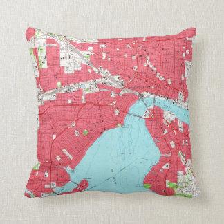 Vintage Map of Jacksonville Florida (1964) 2 Throw Pillow