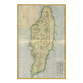 Vintage Map of Jamaica (1780) Customized Stationery