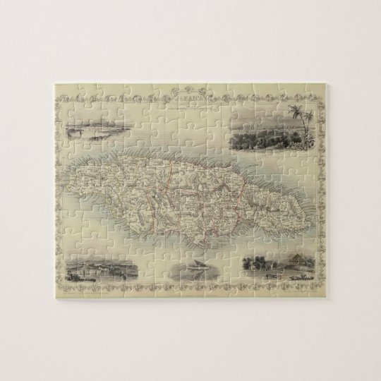 Vintage Map of Jamaica (1851) Jigsaw Puzzle