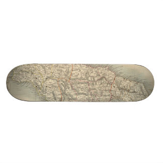 Vintage Map of Jamaica 1851 Skate Board Decks