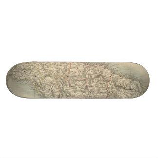 Vintage Map of Jamaica (1851) Skateboards
