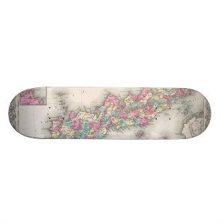 Vintage Map of Japan (1855) Skate Boards