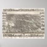 Vintage Map of Jersey City NJ (1883) Poster