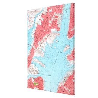 Vintage Map of Jersey City NJ (1955) 2 Canvas Print