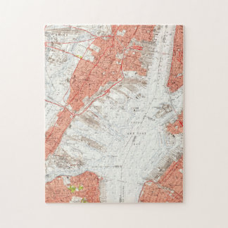 Vintage Map of Jersey City NJ (1955) Jigsaw Puzzle