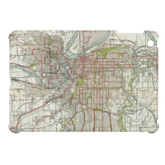 Vintage Map of Kansas City Missouri (1920) Case For The iPad Mini