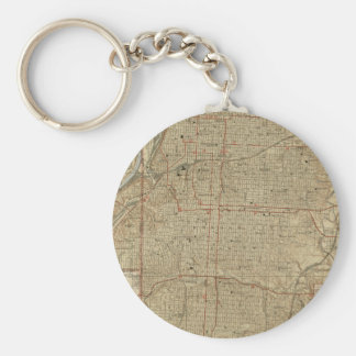 Vintage Map of Kansas City Missouri (1935) Basic Round Button Keychain
