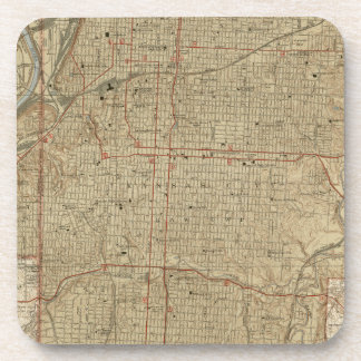 Vintage Map of Kansas City Missouri (1935) Coaster