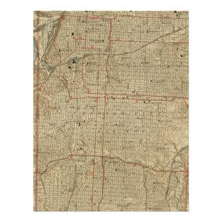 Vintage Map of Kansas City Missouri (1935) Letterhead