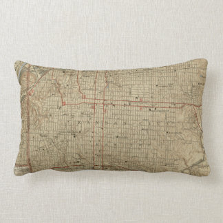 Vintage Map of Kansas City Missouri (1935) Lumbar Pillow