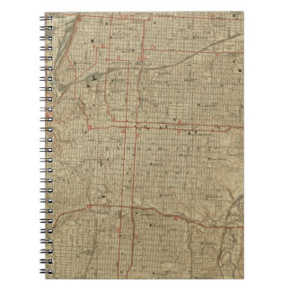 Vintage Map of Kansas City Missouri (1935) Notebooks