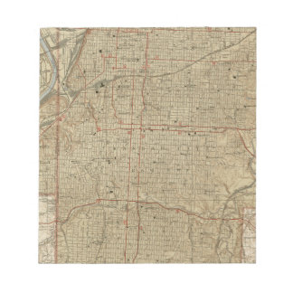 Vintage Map of Kansas City Missouri (1935) Notepad
