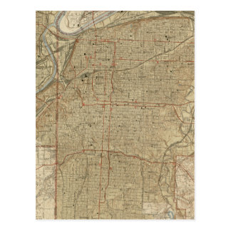 Vintage Map of Kansas City Missouri (1935) Postcard