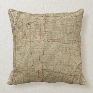 Vintage Map of Kansas City Missouri (1935) Throw Pillow