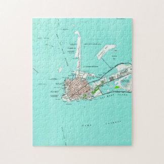 Vintage Map of Key West Florida (1962) Jigsaw Puzzle