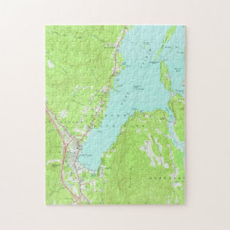 Vintage Map of Lake George New York (1966) Jigsaw Puzzle