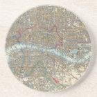 Vintage Map of London (1848) Coaster