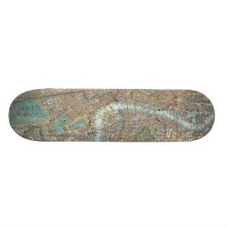 Vintage Map of London (1848) Skate Decks