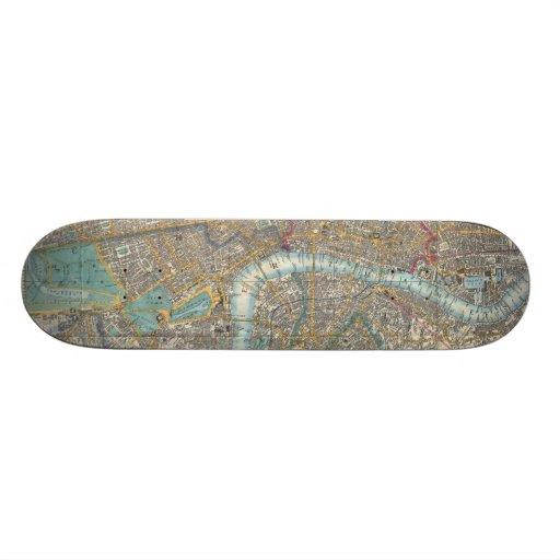 Vintage Map of London (1848) Skate Boards