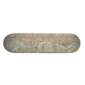 Vintage Map of London (1890) Skateboard Deck