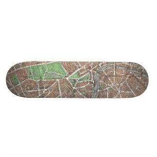 Vintage Map of London (1923) Skateboard Deck