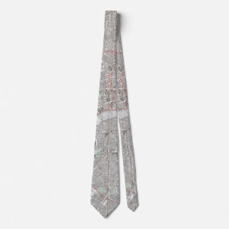Vintage map of London city Tie