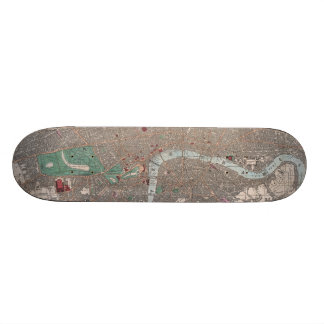 Vintage Map of London England (1862) Custom Skateboard